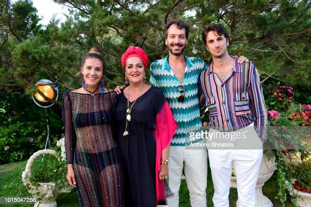 Margherita Missoni Angela Missoni Francesco Macappani and Marco Missoni attend the Unicef Summer Gala Presented by Luisaviaroma cocktail party at...