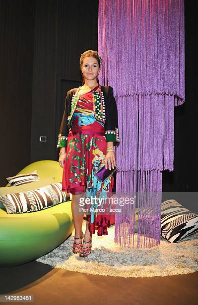 Margherita Missoni attends Missoni Loves Leaves cocktail party during the Milan Design Week on April 16 2012 in Milan Italy