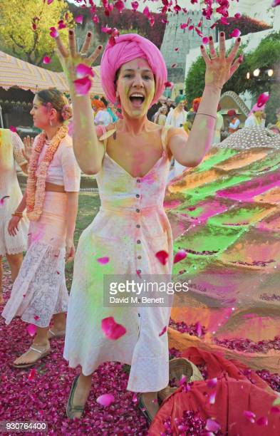Margherita Missoni attends the Holi Saloni celebrations in the RAAS Devigarh on March 10 2018 in Udaipur India