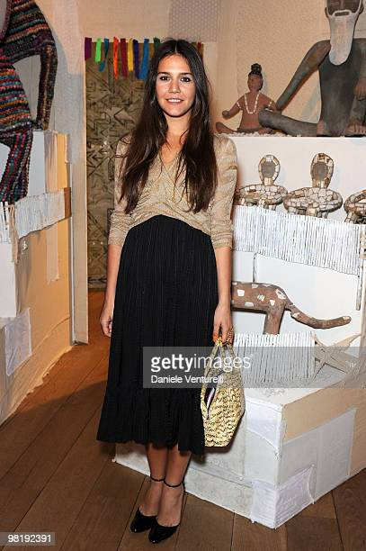 Margherita Missoni attends the press preview of the ''The Museum Of Everything'' at the Pinacoteca Giovanni e Marella Agnelli on March 31, 2010 in...