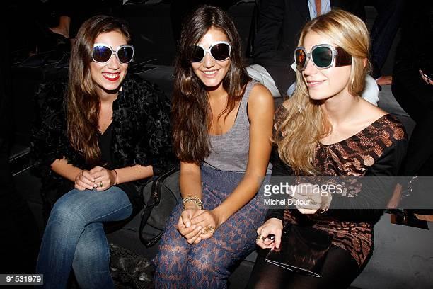Margherita Missoni, Tatiana Santo Domingo and Eugenia Niarchos attends the Valentino Pret à Porter show as part of the Paris Womenswear Fashion Week...