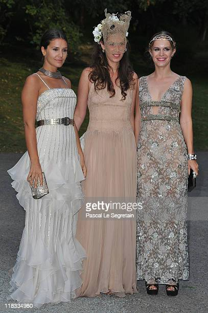 Margherita Missoni Tatiana Santo Domingo and Eugenie Niarchos attend 'The White Fairy Tale Love Ball' in Support Of 'The Naked Heart Foundation' at...