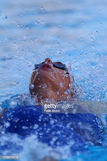 Margherita Panzieri of Italy competes in the women's 100m backstroke during the 57th Settecolli 2020 international swimming trophy at Foro Italico on...