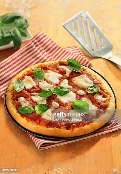 Margherita pizza.