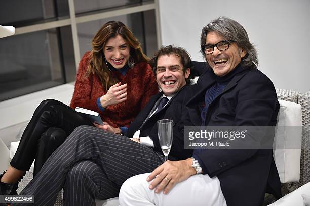 Margherita Zanatta Raffaello Tonon and Roberto Alessi attend the book presentation of 'L'AMORE FORSE' by Barbara Fabbroni on December 3 2015 at the...