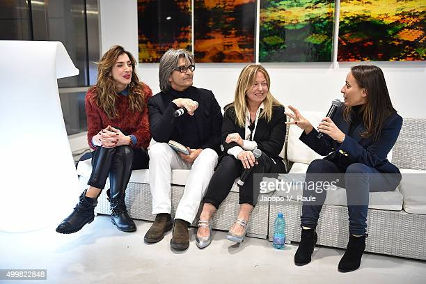 Marghertia Zanatta Roberto Alessi Barbara Fabbroni and Camila Raznovich attend the book presentation of 'L'AMORE FORSE' by Barbara Fabbroni on...