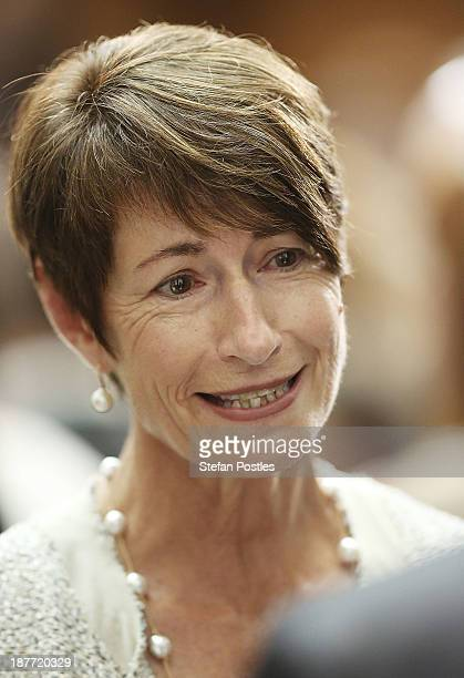 Margie Abbott during an afternoon tea at Parliament House on November 12 2013 in Canberra Australia The GovernorGeneral today will formally open the...