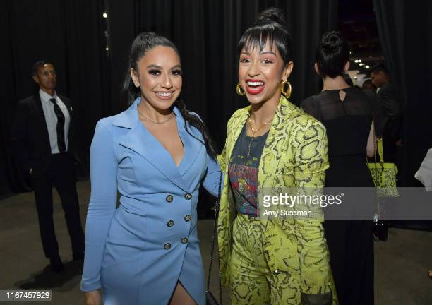 Margie Amaya and Liza Koshy attend Beautycon Festival Los Angeles 2019 at Los Angeles Convention Center on August 11 2019 in Los Angeles California