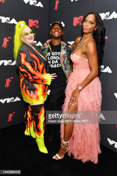 Margie Plus, Thiron Colon, and Sincerely Ward attend the 2021 MTV Video Music Awards at Barclays Center on September 12, 2021 in the Brooklyn borough...