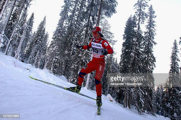 Margit Bjoergen of Norway competes during the 10km freestyle event at the FIS CrossCountry World Cup on November 20 2010 in Gallivare Sweden