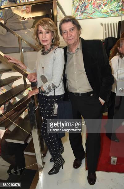 Margit Friedrich and Roger Fritz during 'Maximilian Seitz EinwicklungenImpressionismusFest im Orient' Exhibition Opening at Susanne Wiebe Fashion...