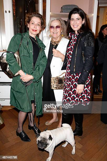 Margit J Mayer Angelica Blechschmidt and Dorothee Schumacher attend the Dorothee Schumacher store event at Vogue Fashion's Night Out on September 09...