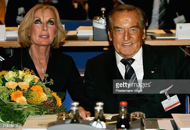 Margit MayerVorfelder and DFBPresident Gerhard MayerVorfelder pose during the DFB Extraordinary Session at the Congress Centre on September 8 2006 in...