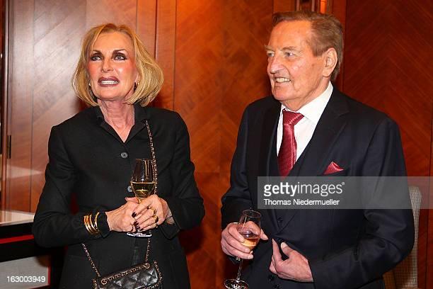Margit MayerVorfelder and Gerhard MayerVorfelder are seen during the celebration of the 80th birthday of Gerhard MayerVorfelder at the...
