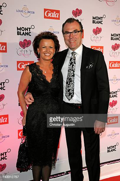 "Margit Toennies and Clemens Toennies attend honouring ceremony of ""Couple of the year"" at Hotel Louis C. Jacob on April 23, 2012 in Hamburg, Germany."