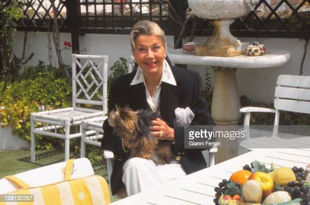 Margit widow of Jaime de Mora y Aragon brother of the Belgian Queen Fabiola in his house of Marbella 25th June 1997 Malaga Spain