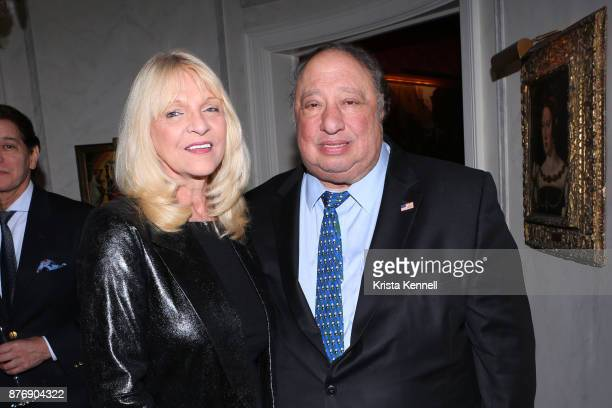Margo Catsimatidis and John Catsimatidis attend Martin Shafiroff and Jean Shafiroff Host Thanksgiving Cocktails for NYC Mission Society at Private...