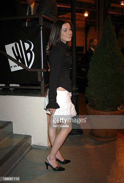 Margo Harshman during 2003 WB UpFront - After Party Outside Arrivals at Chelsea Piers in New York City, New York, United States.
