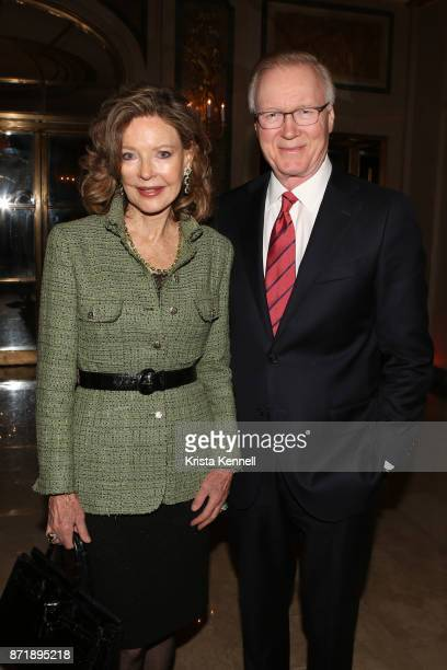 Margo Langenberg and Chuck Scarborough attend Hope for Depression Research Foundation's 11th Annual Luncheon Honoring Ashley Judd at The Plaza Hotel...
