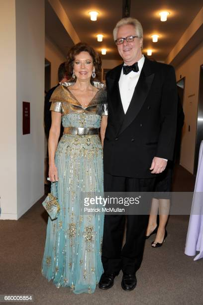Margo Langenberg and Jamie Figg attend Dinner for The Blenheim Foundation at Sotheby's on May 11 2009 in New York City
