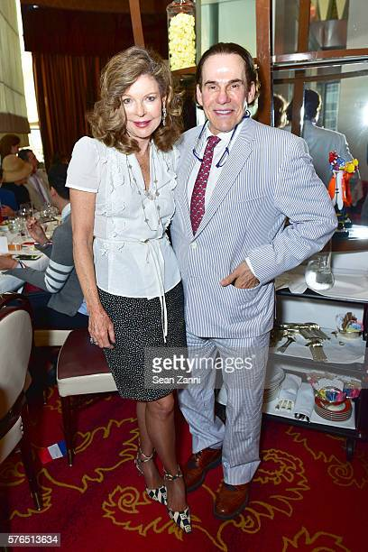 Margo Langenberg and R Couri Hay attend Bastille Day Party Hosted by Jean Shafiroff at Le Cirque on July 14 2016 in New York City