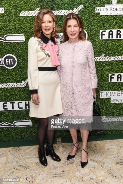 Margo Langenberg and Victoria Wyman attend 2017 Couture Council Award Luncheon at David H Koch Theater Lincoln Center on September 6 2017 in New York...