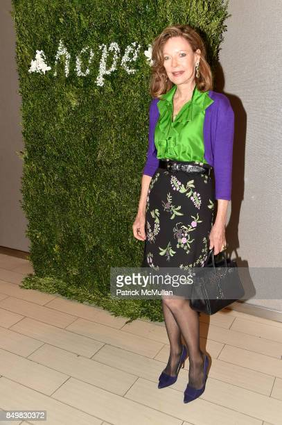 Margo Langenberg attends Audrey Gruss Marc Metrick Host hope Fragrance Luncheon at Cafe SFA Saks Fifth Avenue on September 19 2017 in New York City