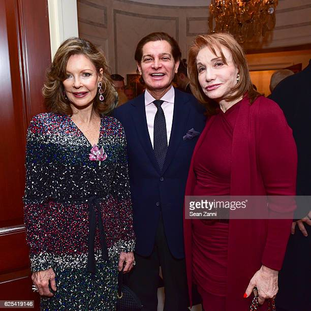Margo Langenberg Edgar Batista and Elizabeth Kabler attend Martin and Jean Shafiroff Host Thanksgiving Cocktails for NYC Mission Society at Private...