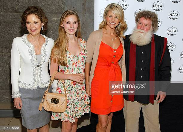 Margo Langenberg Hadley Nagel Christie Brinkley and Scott Chaskey President of NOFA New York attend the 2nd annual luncheon and education panel to...
