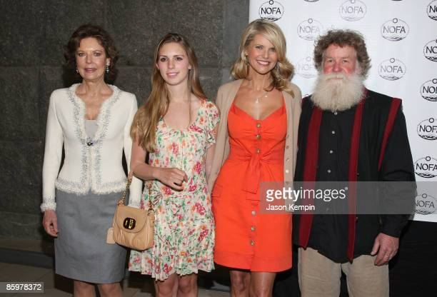 Margo Langenberg Hadley Nagel Christie Brinkley and Scott Chaskey President of NOFA New York attend the NOFANY Organic Food from Farm to Family Lunch...