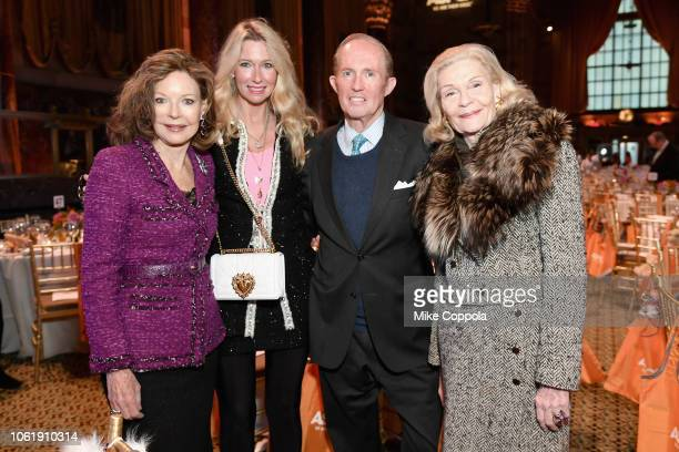Margo Langenberg Mary Snow Mark Gilbertson and Barbara Cates attend the ASPCA Hosts 2018 Humane Awards Luncheon at Cipriani 42nd Street on November...