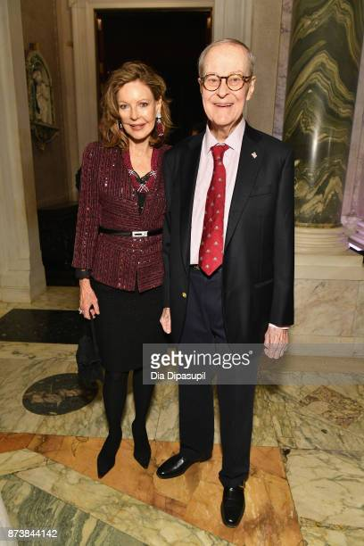 Margo M Langenberg and Frederick Koch attend the Getty Medal Dinner 2017 at The Morgan Library Museum on November 13 2017 in New York City