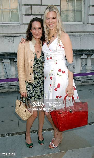 Margo Molinari and Alexandra Aitken attend the Film4 Summer Screen Season at Somerset House on August 2 2007 in London England