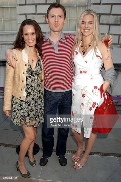 Margo Molinari Richard Wilding and Alexandra Aitken attend the Film4 Summer Screen Season at Somerset House on August 2 2007 in London England