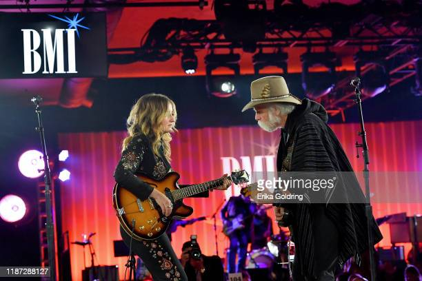 Margo Price and Bob Weir perform at the BMI presents Dwight Yoakam with President's Award at 67th Annual Country Awards Dinner at BMI on November 12...