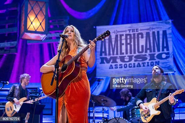 Margo Price performs at Ryman Auditorium on September 21 2016 in Nashville Tennessee