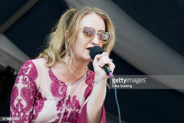 Margo Price performs during the 2017 New Orleans Jazz Heritage Festival at Fair Grounds Race Course on May 5 2017 in New Orleans Louisiana