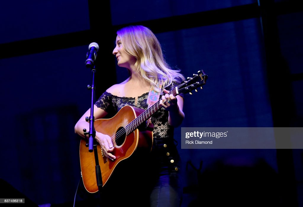 "Margo Price performs ""Fist City"" onstage during the exhibition opening of Loretta Lynn: Blue Kentucky Girl at Country Music Hall of Fame and Museum on August 22, 2017 in Nashville, Tennessee."