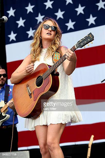 Margo Price performs in concert during the 43rd Annual Willie Nelson 4th of July Picnic at the Austin360 Amphitheater on July 4 2016 in Austin Texas