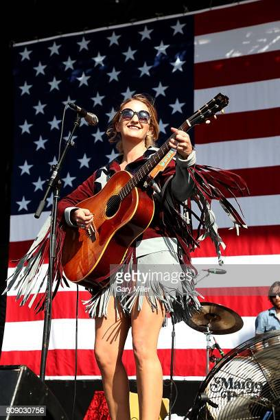Margo Price performs in concert during the annual Willie Nelson 4th of July Picnic at the Austin360 Amphitheater on July 4, 2017 in Austin, Texas.