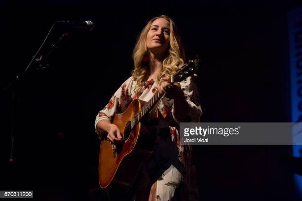 Margo Price performs on stage during Take Root Festival at Oosterpoort on November 4 2017 in Groningen Netherlands