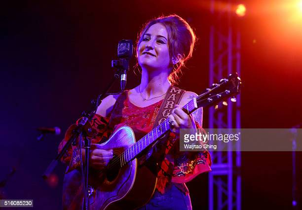 Margo Price performs onstage at NPR Music during the 2016 SXSW Music Film Interactive Festival at Stubbs on March 16 2016 in Austin Texas