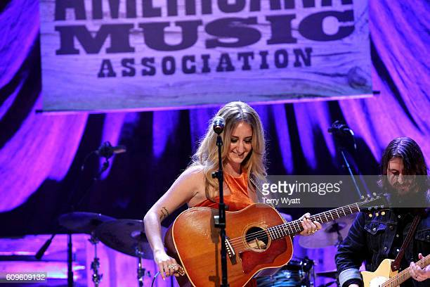 Margo Price performs onstage at the Americana Honors Awards 2016 at Ryman Auditorium on September 21 2016 in Nashville Tennessee at Ryman Auditorium...