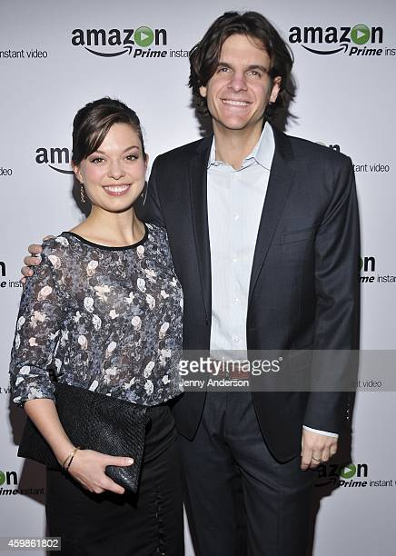 Margo Seibert and Alex Timbers attend Mozart In The Jungle premiere at Alice Tully Hall at Lincoln Center on December 2 2014 in New York City