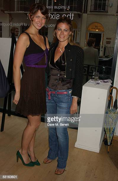 Margo Stilley and Francesca Versace attend the Private View for The Sixties Set An Inside View By Robin DouglasHome at The Air Gallery on June 28...