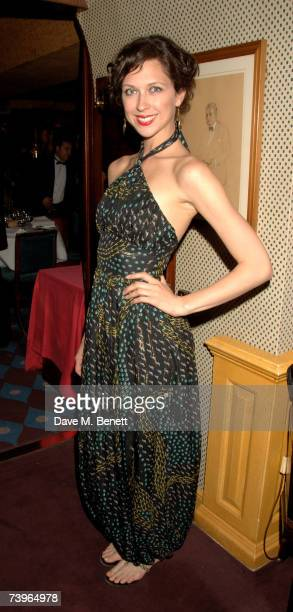 Margo Stilley attends private dinner and party hosted by fashion chain Issa at Annabel's on April 24 2007 in London England