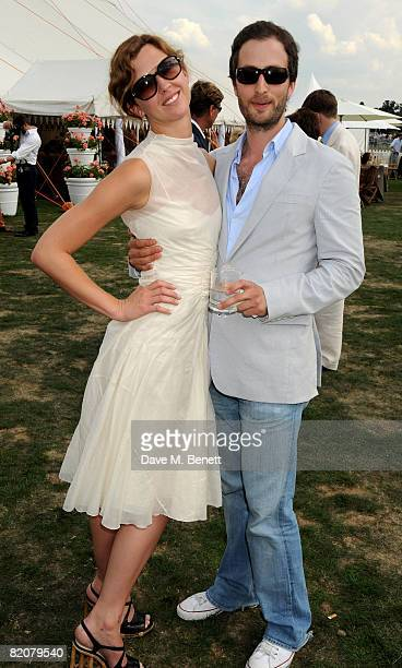 Margo Stilley attends the annual Cartier International Polo Day at the Cartier Marquee in Great Windsor Park on July 27 2008 in Windsor England