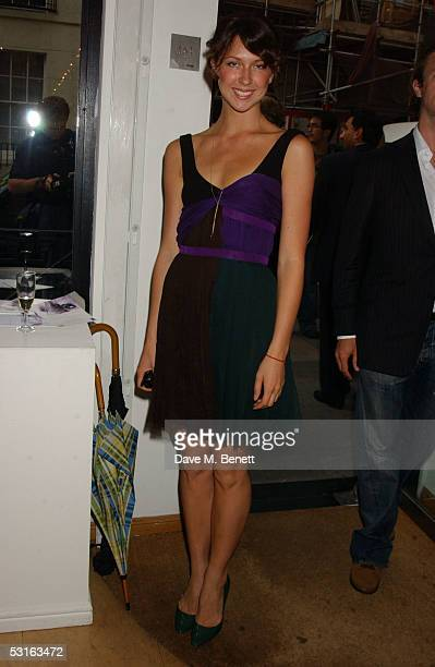 Margo Stilley attends The Sixties Set An Inside View By Robin DouglasHome at the Air Gallery June 28 2005 in London England The exhibition features...