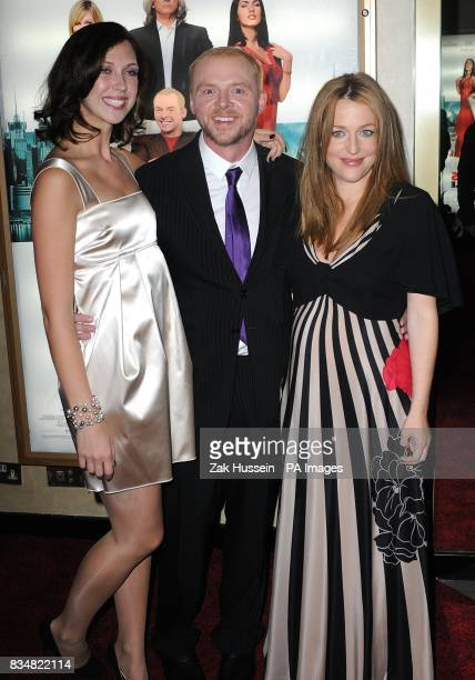 Margo Stilley Simon Pegg and Gillian Anderson arrive for the UK premiere of 'How To Lose Friends and Alienate People' at the Empire Leicester Square...