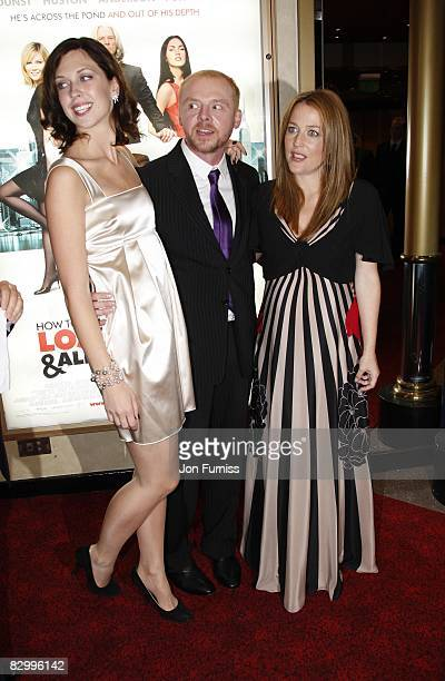 Margo Stilley Simon Pegg and Gillian Anderson attends the UK premiere of 'How to Lose Friends and Alienate People' at Empire Leicester Square on...